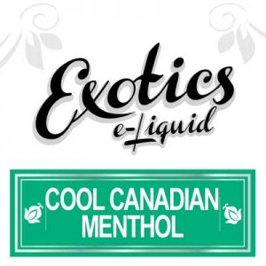 Cool Canadian Menthol e-Liquid by Exotics e-Liquid is not only an icy, refreshing e-Liquid. But is also a premium, Canadian made e-Liquid that's made from only the finest FDA approved and pharmaceutical grade base ingredients., Tobacco eJuice, e-Liquid