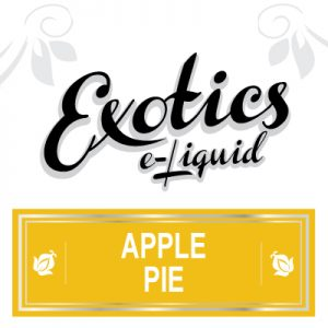 Apple Pie e-Liquid, Exotics, Vaping, eCig, Sweet, Flavours