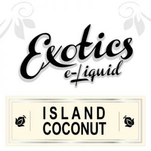 Island Coconut e-Liquid, vaping, eJuice, coconut