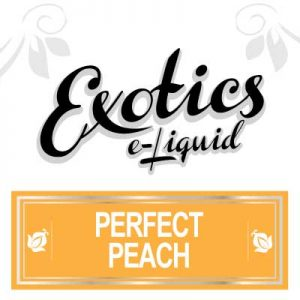 Perfect Peach e-Liquid by Exotics e-Liquid is an impeccably perfect eJuice. Enjoy the sweet, ripe flavour of delicious Peaches all year long with Exotics e-Liquid Perfect Peach e-Liquid, Fruit, Perfect Peach, eJuices, Vaping