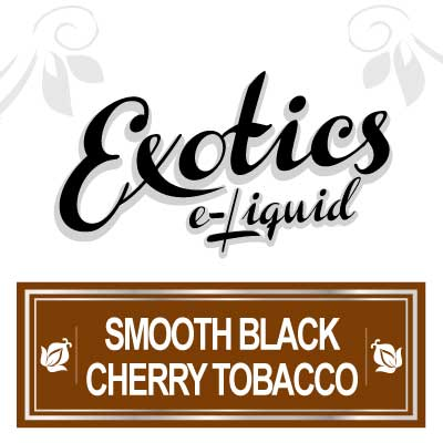 Smooth Black Cherry Tobacco e-Liquid by Exotics e-Liquid is an exceptionally flavoured e-Liquid flavour indeed. Blended with both pharmaceutical grade base liquids and FDA approved flavourings, Exotics, Smooth Tobacco, Vaping, eCig