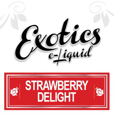 Strawberry Delight e-Liquid, e-Liquid, Strawberry, Fruit, Vape