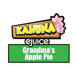 Grandma's Apple Pie e-Liquid, Kahuna eJuice, Sweet, Vape, Vaping, eCig