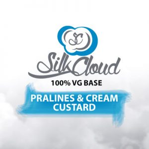 Pralines & Cream Custard e-Liquid, Silk Cloud, Sweet Flavours, Vape, eCig